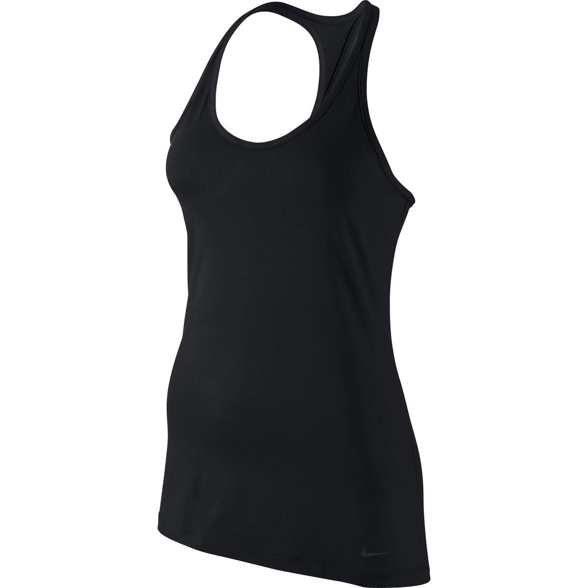Майка для фитнеса женская Nike Get Fit, цвет: черный. 643345-010. Размер L (46/48)643345-010Женская майка Nike Get Fit изготовлена из качественной эластичной ткани по технологии Dri-FIT обеспечивающей надежную терморегуляцию и отвод влаги. Т-образная спинка осуществляет дополнительную поддержку.