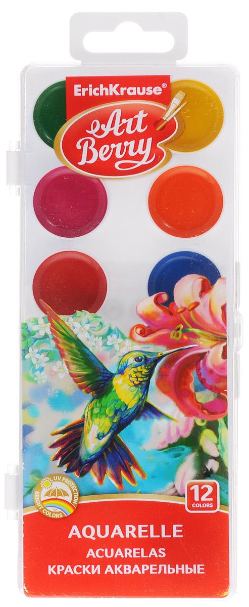 Erich Krause Краски акварельные Art Berry 12 цветов41724Краски акварельные Erich Krause Art Berry идеально подойдут для детского художественного творчества, изобразительных и оформительских работ.Краски мягко ложатся на бумагу, легко смешиваются между собой, не крошатся и не смазываются, быстро сохнут. В качестве красящего элемента использованы натуральные пигменты.В процессе рисования у детей развивается наглядно-образное мышление, воображение, мелкая моторика рук, творческие и художественные способности, вырабатывается усидчивость и аккуратность.Краски поставляются в пластиковом пенале.