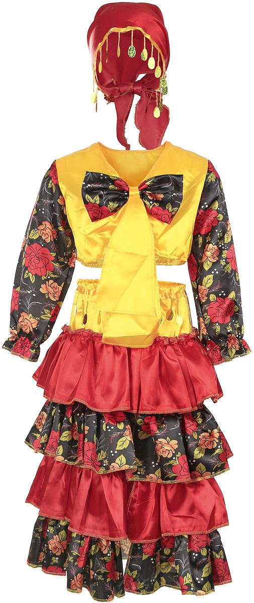 Карнавалия Карнавальный костюм для девочки Цыганка размер 110 костюм снежной малышки 40 44
