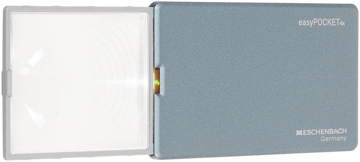 Лупа выдвижная Eschenbach EasyPOCKET, с подсветкой, 4.0х 16.0 дптр, 5 х 4,5 см лупа выдвижная асферическая eschenbach easypocket 3x 50x45 мм с подсветкой черная
