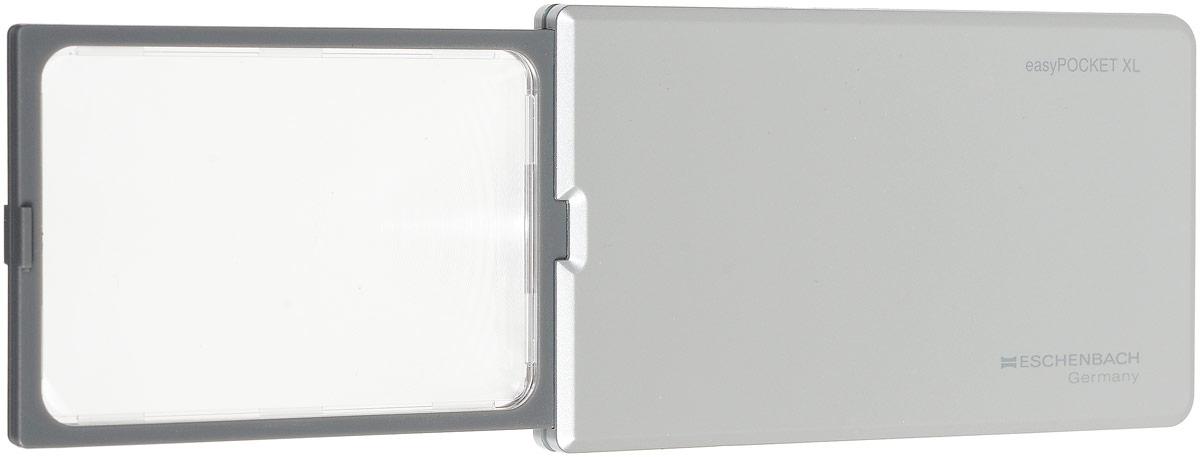 Лупа выдвижная Eschenbach EasyPOCKET XL, с подсветкой, цвет: серебристый, 2.5х 6.0 дптр, 7,8 х 5 см лупа выдвижная асферическая eschenbach easypocket 3x 50x45 мм с подсветкой черная