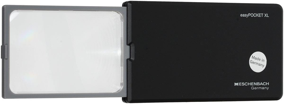 Лупа выдвижная Eschenbach EasyPOCKET XL, с подсветкой, цвет: черный, 2.5х 6.0 дптр, 7,8 х 5 см152210Выдвижная лупа Eschenbach EasyPOCKET XL,изготовленная из полимера, имеет трехкратноеувеличение. Она дает четкоенеискаженное изображение, подсвеченное лампой,встроенной в удобную ручку. Экономичноеэнергопотребление, подсветкавключается только при полном выдвижении линзы.Не требует замены лампочек, она имеет условноебезлимитное времяэксплуатации. Увеличение: 2.5 х. Оптическая сила: 6.0.Подсветка: есть LED.Конструкция: выдвижная.Рекомендации по использованию:Используется во многих областях человеческойдеятельности, в том числе в биологии, медицине,археологии, банковском и ювелирномделе, криминалистике, при ремонте часов ирадиоэлектронной техники, а также в филателии,нумизматике и бонистике;При чтении мелкого шрифта дома, ценников,информации о продуктах, аннотации к лекарствам ипрочее. Рекомендации по уходу:Когда лупа не используется, она должен бытьнакрыта чехлом. Протирайте корпус влажнойтканью. Очищайте линзы мягкой, неоставляющей ворсинок тканью, например тканьюдля протирания очков. Не используйте никакихмыльных растворов, содержащихсмягчители, спиртосодержащие растворители илиабразивные чистящие средства. Это можетповредить линзы.Возрастное ограничение от 4+ (4-6 только подприсмотром взрослых!). Размер: 7,8 х 5 см. Общий размер лупы: 11,5 х 6,5 см.