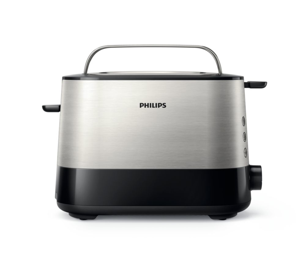 Philips HD2635/90, Black Silver тостер тостер philips hd 2637 00