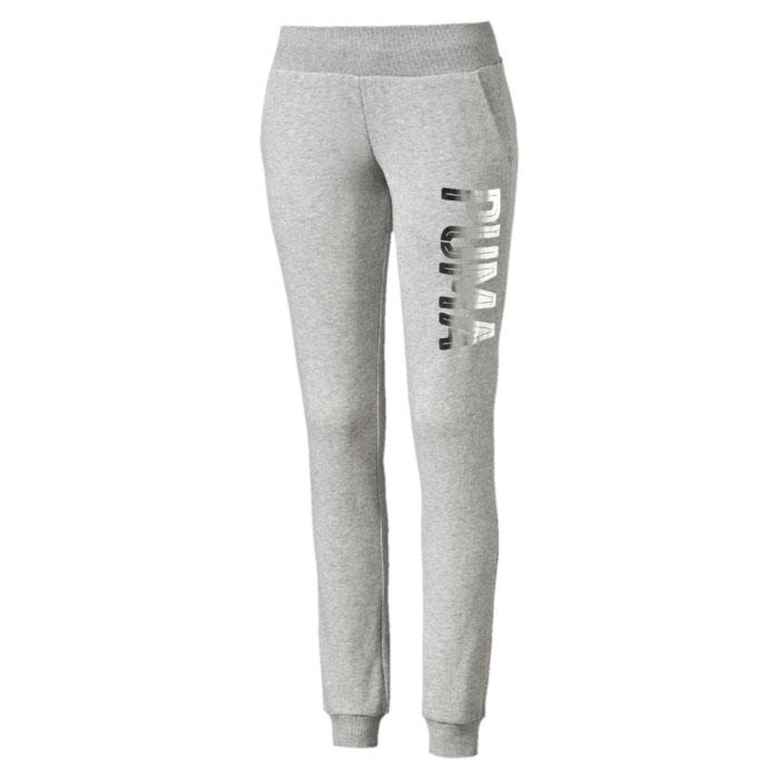 Брюки спортивные женские Puma STYLE Foil Sweat Pant W, цвет: серый. 838711_04. Размер XL (50) брюки puma брюки bvb tr pant tapered w po
