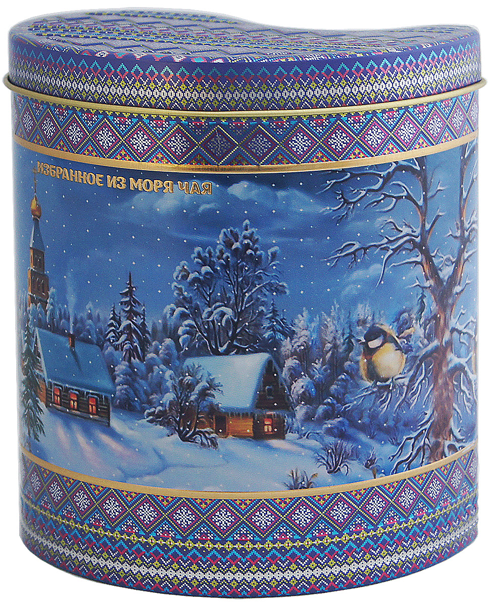 Избранное из моря чая Новый Год Зимний узор. Сиреневый вечер чай черный листовой, 75 г1164Жестяная баночка в форме капли из коллекции Зимний узор покрыта матовым лаком. Она содержит цейлонский черный чай стандарта ОРА (крупный лист). Листья для этого чая собирают с кустов после того, как почки полностью раскрываются. В сухой заварке листья должны быть крупными (от 8 до 15 мм) и однородными.Этот сорт практически не содержит типсов, но имеет высокое содержание ароматических масел, и поэтому настой чая очень ароматен. Также этот чай характерен вкусом с горчинкой благодаря большому содержанию дубильных веществ. Знак в виде Льва с 17 пятнышками на шкуре - это гарантия Бюро Цейлонского Чая на соответствие чая высокому стандарту качества, установленному правительством и упакованному только в пределах Шри-Ланки.