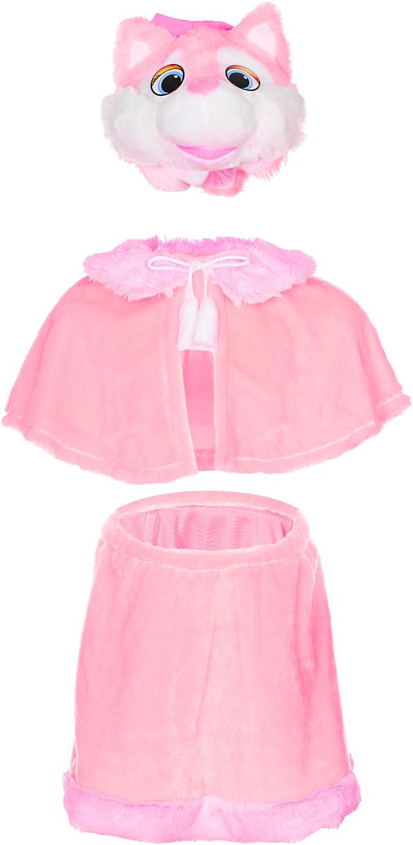 Карнавалия Карнавальный костюм для девочки Кошечка цвет розовый размер 122 шапочка кошечка розовая карнавалия