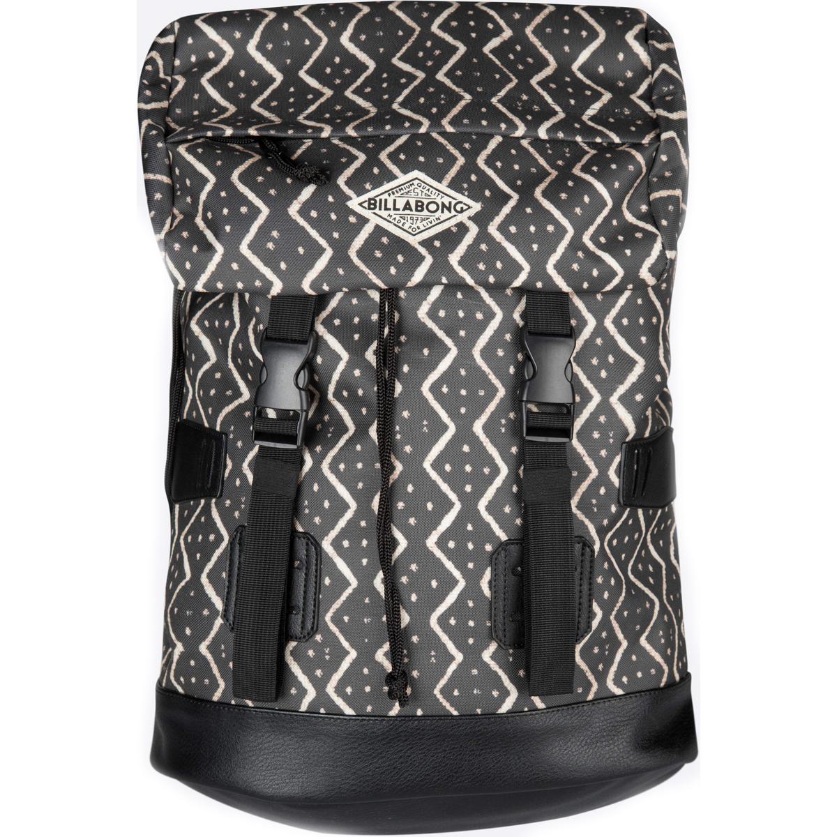 Рюкзак городской женский Billabong Track Girl, цвет: черный, 25 лZ9BP01Вдохновленный туристическими рюкзаками, Billabong Track Girl является универсальным решением как для городских маршрутов и загородных поездок. Основной отсек, утягивающийся шнуром, готов вместить множество вещей благодаря внушительному объему, карман в верхней части клапана предназначен для транспортировки хрупких вещей, а внешние нашивки для крепления веревки позволят захватить с собой куртку или туристический коврик. Имеется мягкий карман для ноутбука с быстрым доступом.