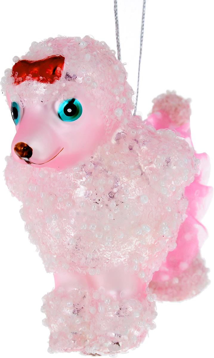 Украшение новогоднее подвесное Winter Wings Собачка, 10 х 9 х 6 смN079065Новогоднее подвесное украшение Winter Wings Собачка выполнено из стекла в виде собаки и украшено блестками. С помощью специальной петельки украшение можно повесить в любом понравившемся вам месте. Но, конечно, удачнее всего оно будет смотреться на праздничной елке.Елочная игрушка - символ Нового года. Она несет в себе волшебство и красоту праздника. Создайте в своем доме атмосферу веселья и радости, украшая новогоднюю елку нарядными игрушками, которые будут из года в год накапливать теплоту воспоминаний.
