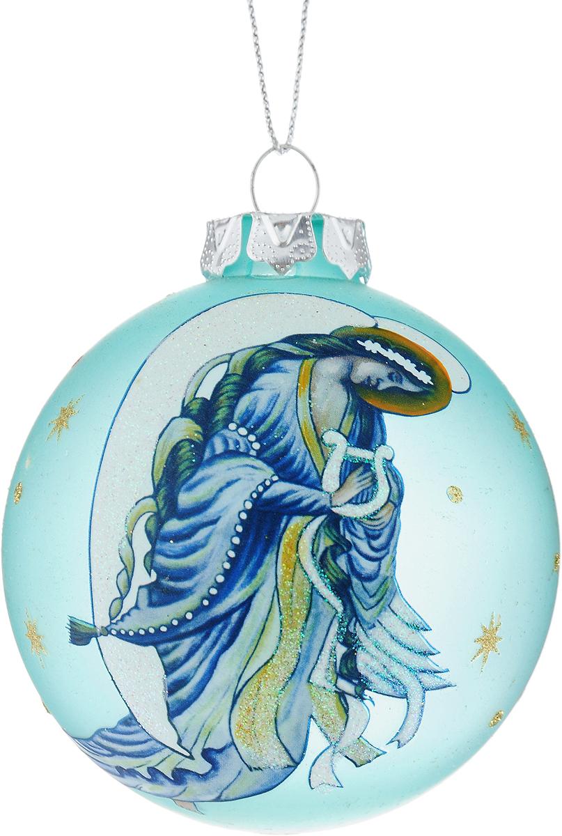 Украшение новогоднее подвесное Winter Wings Шар, диаметр 8 см. N07929N07929Новогоднее подвесное украшение Winter Wings Шар выполнено из стекла в виде шара и украшено изображением ангела. С помощью специальной петельки украшение можно повесить в любом понравившемся вам месте. Но, конечно, удачнее всего оно будет смотреться на праздничной елке.Елочная игрушка - символ Нового года. Она несет в себе волшебство и красоту праздника. Создайте в своем доме атмосферу веселья и радости, украшая новогоднюю елку нарядными игрушками, которые будут из года в год накапливать теплоту воспоминаний.