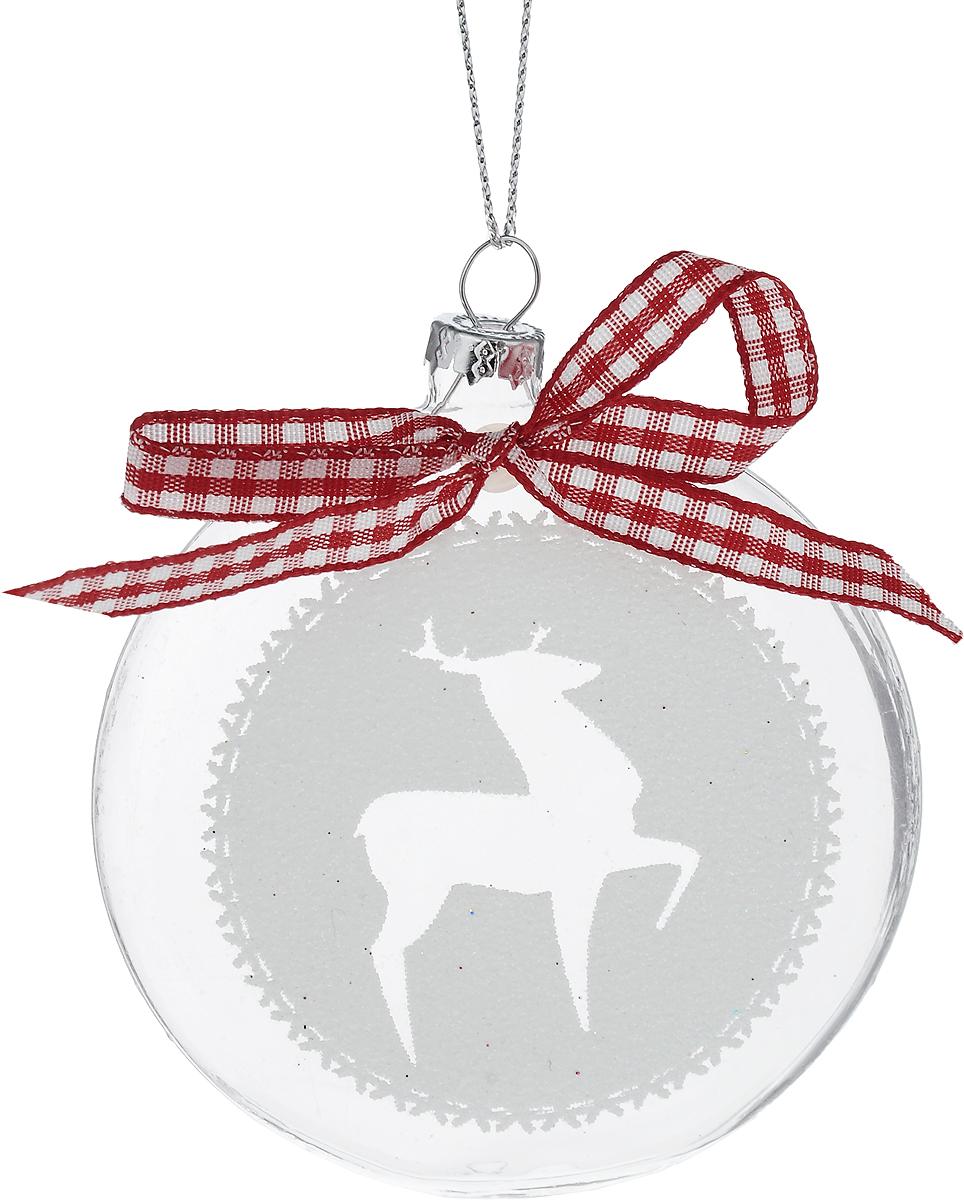 Украшение новогоднее подвесное Winter Wings Диск. Олень, диаметр 8 см. N07975N07975Новогоднее подвесное украшение Winter Wings Диск. Олень выполнено из стекла в виде диска с изображением оленя. С помощью специальной петельки украшение можно повесить в любом понравившемся вам месте. Но, конечно, удачнее всего оно будет смотреться на праздничной елке.Елочная игрушка - символ Нового года. Она несет в себе волшебство и красоту праздника. Создайте в своем доме атмосферу веселья и радости, украшая новогоднюю елку нарядными игрушками, которые будут из года в год накапливать теплоту воспоминаний.