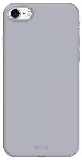Deppa Air Case чехол для Apple iPhone 7/8, Silver83268Чехол Deppa Air Case для Apple iPhone 7- случай редкого сочетания яркости и чувства меры. Это стильная и элегантная деталь вашего образа, которая всегда обращает на себя внимание среди множества вещей. Благодаря покрытию soft touch чехол невероятно приятен на ощупь, поэтому смартфон не хочется выпускать из рук. Ультратонкий чехол (толщиной 1 мм) повторяет контуры самого девайса, при этом готов принимать на себя удары - последствия непрерывного ритма городской жизни.