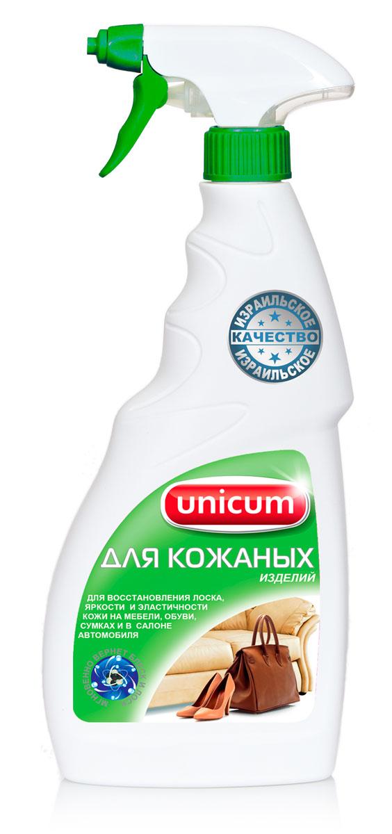 """Средство """"Unicum"""" для деликатной очистки и продления срока службы изделий из кожи. Уникальное средство возвращает кожаным изделиям первоначальный вид, мягкость и эластичность, естественный шелковистый блеск и приятный запах, предотвращает старение и при регулярном применении существенно продлевает срок их службы. Рекомендуется для регулярной обработки кожаной мебели, салонов автомобилей, пальто, курток, сумок, портфелей, ремней, высококачественной обуви. После обработки средством остается нанослой, отталкивающий загрязнения и облегчающий последующий уход.  Состав: очищенная вода, силиконовая микроэмульсия 5-15%, ухаживающие добавки  Как выбрать качественную бытовую химию, безопасную для природы и людей. Статья OZON Гид"""