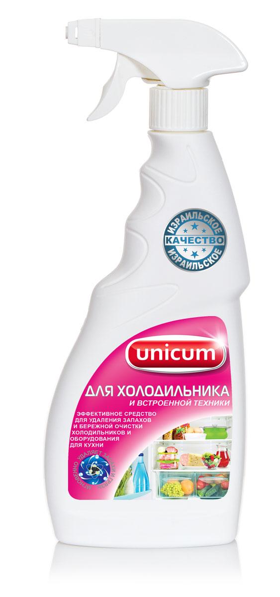 """Высокоэффективное средство """"Unicum"""" для внешней и внутренней очистки холодильника, встроенного и настольного кухонного оборудования и кухонной мебели. Средство бережно очищает все виды декоративных и гигиенических водостойких покрытий, включая пластики, ламинат, алюминий, лакированное дерево и нержавеющую сталь. Удаляет неприятные запахи, предотвращает появление плесени и размножение бактерий в труднодоступных местах и оставляет защитный слой, препятствующий последующим загрязнениям.  Состав: деминерализованная вода, НПАВ  Как выбрать качественную бытовую химию, безопасную для природы и людей. Статья OZON Гид"""
