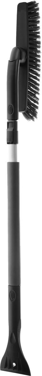 Щетка автомобильная Sapfire, со съемным скребком, поворотная, цвет: черный, длина 100-137 см0413-SBU_чёрныйЩетка автомобильная Sapfire предназначена для удаления снега и льда. Оснащена мощной рукояткой из алюминия и съемным скребком. Длина ручки может регулироваться. Трехрядная распушенная щетина из полимера бережно удаляет снег, не царапая лакокрасочное покрытие. Съемная щетка может поворачиваться. Ширина скребка: 9 см.Длина рабочей части щетки: 31 см.Длина щетки: 100-137 см.