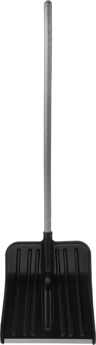 Лопата для снега Ingreen Snow Spade, с черенком, цвет: черный, длина 129,5 см лопата штыковая арти копанец 40 х 21 х 5 см