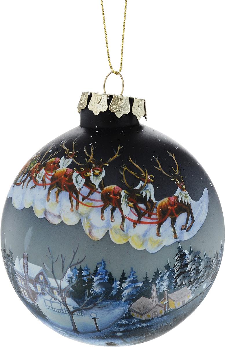Украшение новогоднее подвесное Winter Wings Шар, диаметр 8 см. N07927N07927Новогоднее подвесное украшение Winter Wings Шар выполнено из стекла в виде шара с новогодним принтом. С помощью специальной петельки украшение можно повесить в любом понравившемся вам месте. Но, конечно, удачнее всего оно будет смотреться на праздничной елке.Елочная игрушка - символ Нового года. Она несет в себе волшебство и красоту праздника. Создайте в своем доме атмосферу веселья и радости, украшая новогоднюю елку нарядными игрушками, которые будут из года в год накапливать теплоту воспоминаний.
