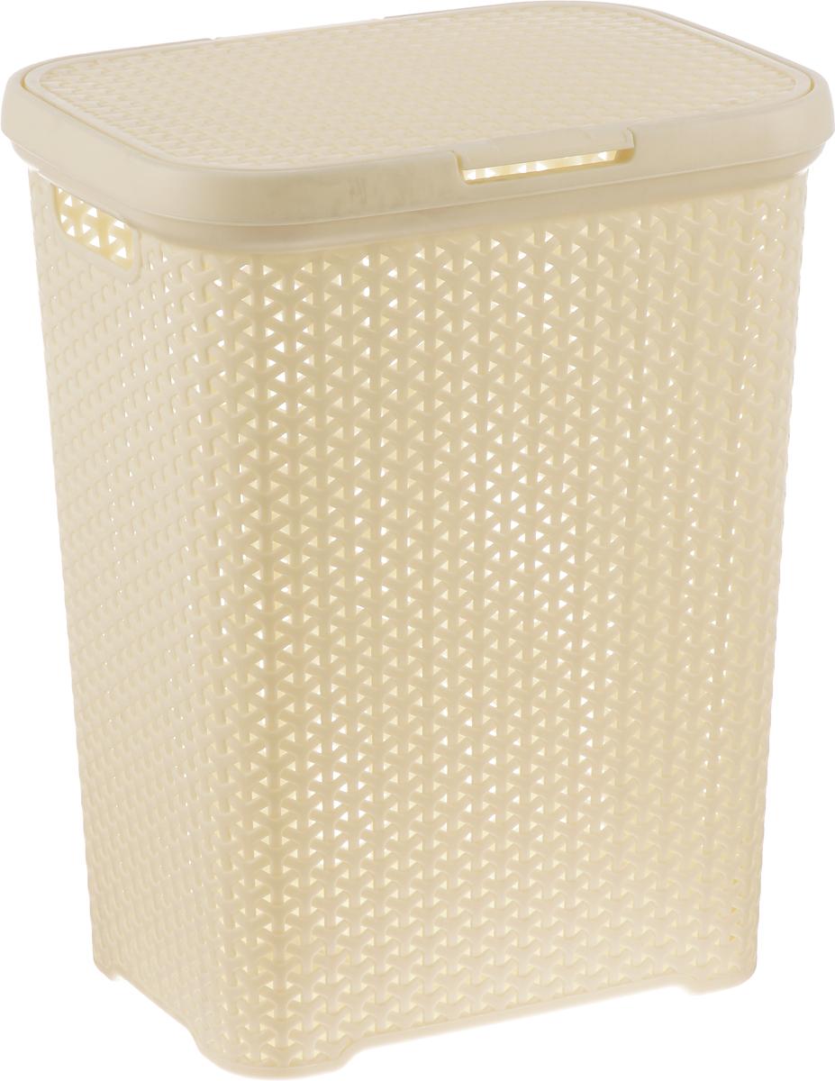 """Вместительная корзина для белья """"Magnolia Home"""" изготовлена из прочного пластика. Она отлично подойдет для хранения белья перед стиркой. Специальные отверстия на стенках создают идеальные условия для проветривания. Изделие оснащено крышкой и двумя ручками для переноски. Такая корзина для белья прекрасно впишется в интерьер ванной комнаты.Высота корзины: 55 см."""