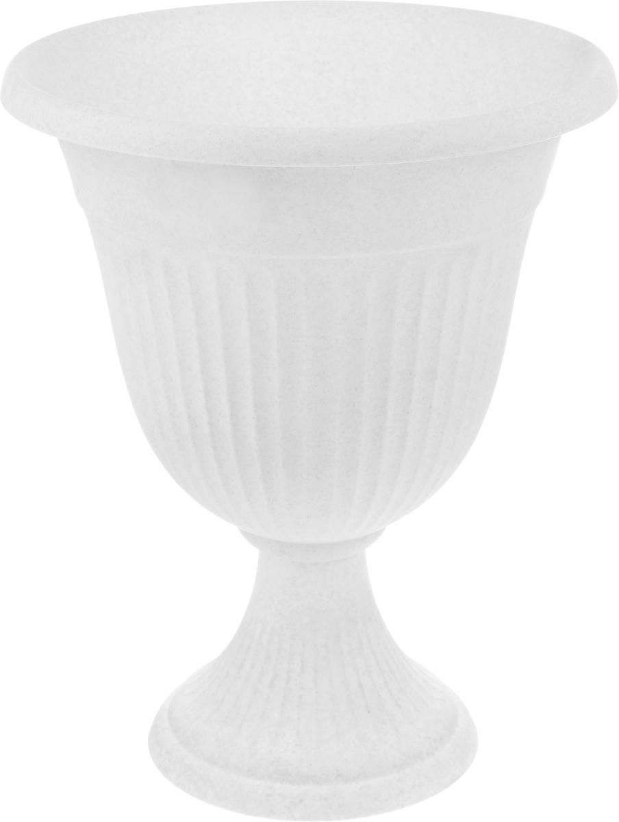 Вазон Idea Ливия, цвет: мраморный, высота 43 см вазон idea ливия цвет белая глина высота 33 см