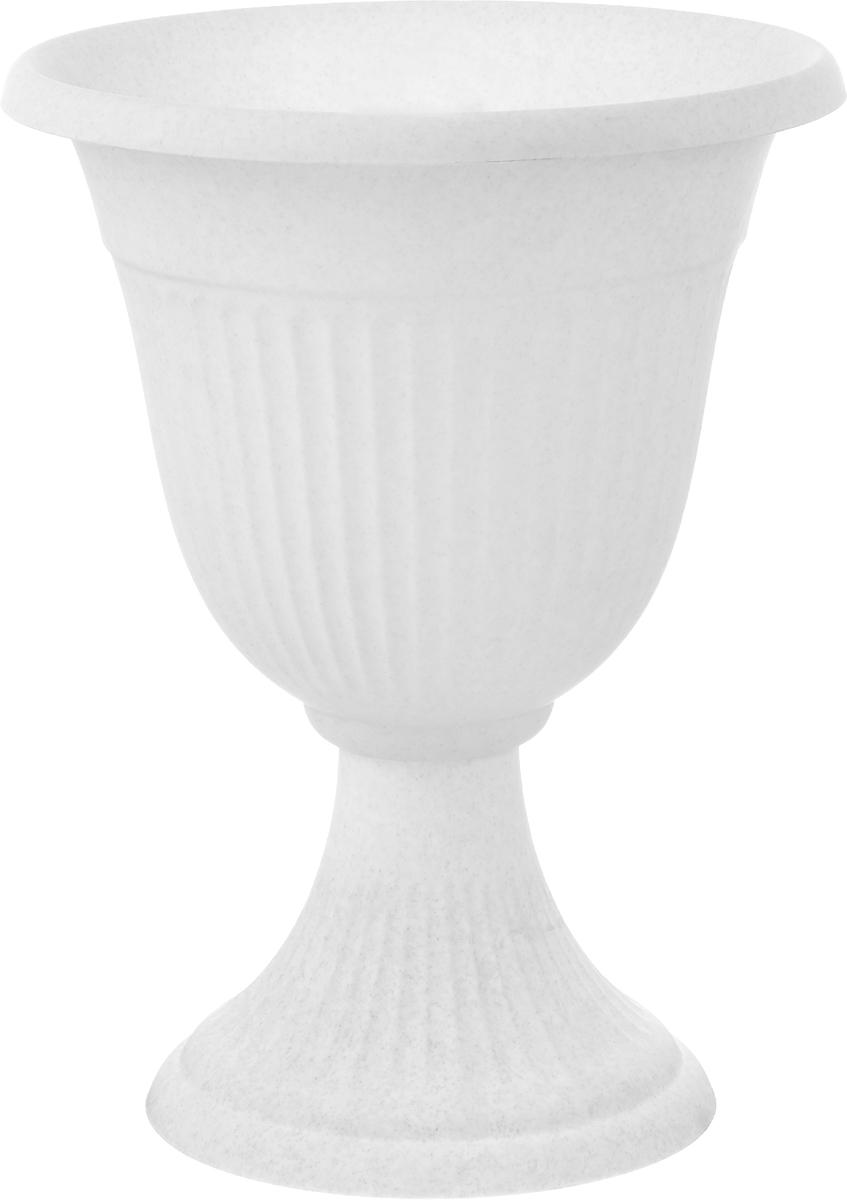 Вазон Idea Ливия, цвет: мраморный, высота 38 смМ 3202Вазон Idea Ливия изготовлен из высококачественного полипропилена (пластика). Верхняя часть съемная.Благодаря устойчивому широкому основанию вазон не упадет. Такой вазон прекрасно подойдет для выращивания растений и цветов в домашних условиях. Классический дизайн впишется в любой интерьер. Диаметр (по верхнему краю): 30 см.Высота: 38 см.Диаметр основания: 20,5 см.