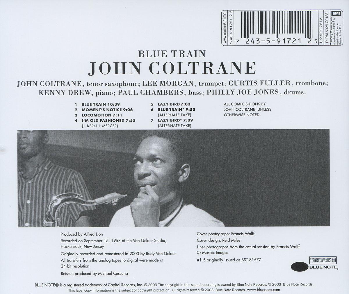 John Coltrane.  Blue Train Blue Note Records,ООО Музыка