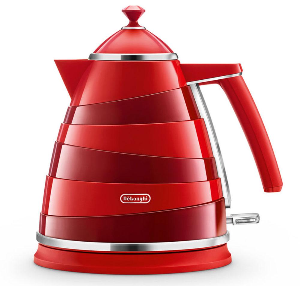 DeLonghi KBA 2001, Red электрочайникKBA 2001Электрочайник DeLonghi KBA 2001 из дизайнерской коллекции Avoolta выполнен вочень интересном стиле. Его ассиметричные линии, сочетание пластика схромированными деталями сделают этот чайник изюминкой любого интерьеракухни или офиса.Вам удобнее держать чайник в правой или левой руке? Это неважно, если у васесть DeLonghi KBA 2001, ведь он оснащен подставкой, на которой его можноповернуть в любую удобную для вас сторону на 360 градусов. Контролируйтеколичество жидкости в чайнике с помощью индикатора уровня воды. Благодарясъемному фильтру, вы каждый день сможете наслаждаться чистым вкусомлюбимого чая без всяких примесей.Хотите, чтобы ваш чайник прослужил вам как можно дольше? С трехуровневойсистемой безопасности, которой оснащен KBA 2001, устройство будет радоватьвас своей работой длительное время. Суть защиты заключается в автоотключениичайника в трёх случаях - при поднятии устройства с подставки, при закипанииводы и при её отсутствии.