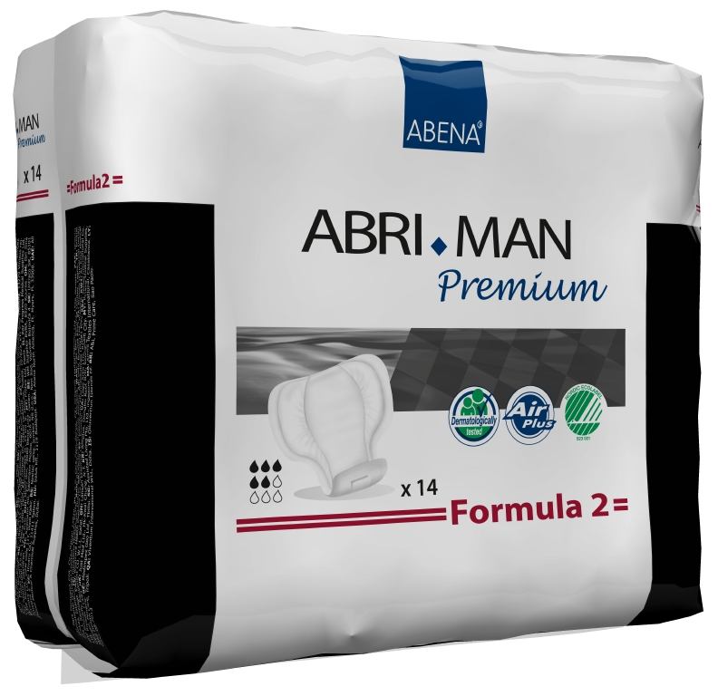 Abena Прокладки урологические мужские Abri-Man Formula 2 14 шт 4100741007Мужские прокладки Abena Abri-Man Formula 2 - помогут множеству мужчин, которые страдают от недержания в том или ином виде. Abri-Man предлагает решения, позволяющие вести полноценную активную жизнь.Преимущества вкладышей и прокладок Abri-Man:- специально для мужчин,- превращают жидкость в гель, запирая запах изнутри,- гарантированная сухость за счет инновационной технологии быстрого впитывания,- гипоаллергенные экологически чистые материалы,- экономичны благодаря системе «2-в-1»,- впитываемость: более 750 млAbri-Man Formula 1, 2 максимальная защита от протекания благодаря уникальным бортикам в форме кармашков, расположенным по длине прокладки, оптимальный комфорт и безопасность за счет особой формы, соответствующей мужской анатомии, прокладка с самоклеющимися полосками может использоваться в сочетании с плотно прилегающим нижним бельем или, в идеале, со специально разработанным фиксирующим бельем Abri-Fix.