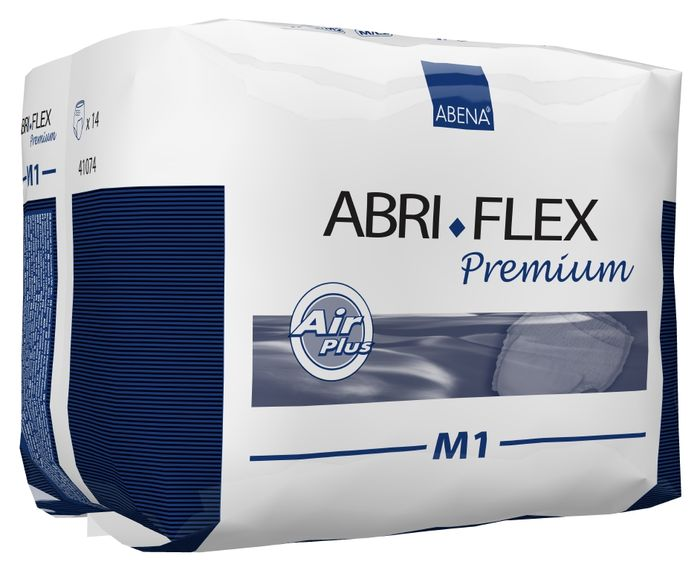Abena Подгузники для взрослых Abri-Flex М1 дневные 14 шт 4108341083Подгузники-трусики Abri-Flex M1 - продукты серии Abri-Flex могут использоваться в качестве нижнего белья, обеспечивая свободу движения. Abri- Flex удерживается на бедрах за счет увеличенного количества эластичных нитей по сравнению с другими аналогичными продуктами. Подгузники-шортики Abri-Flex Special обладает уникальной эластичностью, которая обеспечивает точную посадку в области ног и паха, и являетсяидеальным решением для физически активных людей, а также для тех, кому не подходят традиционные трусики pull-up.Преимущества подгузников для взрослых Abri- Flex: - мягкий пояс надежно и деликатно удерживает подгузник на месте, - превращают жидкость в гель, запирая запах изнутри, - имеют цветной сегментированный индикатор намокания, - гарантируют сухость за счет инновационной технологии быстрого впитывания слоя 3D DualCore, - сделаны из гипоаллергенных экологически чистых материалов, - впитываемость: более 1400 мл Abena постоянно инвестирует в новые технологии. В 2014 году мы установили оборудование, которое позволяет нам производить подгузник Abri- Flex нового поколения с запатентованной воздухопроницаемостью. Теперь дышащей является вся поверхность подгузника, а не только егорабочая зона. Новый Abri-Flex имеет слой 3D DualCore, который обеспечивает максимальную степень влагопоглощения именно там, где это необходимо. Такжеподгузник оснащен новой улучшенной системой TopDry, которая обеспечивает сухость, и благодаря которой подгузник идеально прилегает к телу.На данный момент Abena - единственный производитель, который использует данную уникальную технологию.