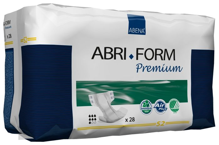Abena Подгузники для взрослых Abri-Form S2 28 шт 4305543055Подгузники для взрослых Abri-Form Premium S2 - классические подгузники для взрослых (лежачих или малоподвижных людей после операций) со средней и тяжелой формой недержания мочи и кала.Качество каждого подгузника проверено электроникой.Abri-Form Premium - это полная линейка премиум подгузников для взрослых с умеренной и тяжелой формами недержания. Отличия Abri-Form Premium от других подгузников:- 3 степени защиты от протеканий (уникальные впитывающие каналы, 6 слоев, высокие бортики, направленные внутрь подгузника)- имеет дополнительную защиту от протеканий со спины (первые в России подгузники с кармашком, задерживающим жидкость)- мягкие тянущиеся боковинки не оставляют следов на бедрах, в отличие от обычной резинки- жидкость превращается в гель и не может вытечь7 дополнительных преимуществ:- подгузник полностью дышащий;- задерживает запахи;- быстро впитывает за счет системы Top Dry (Топ Драй) и влагораспределяющих каналов;- выполнен из мягких бесшумных материалов;- имеет сегментированный индикатор намокания;- отмечен экомаркировкой Скандинавии Белый лебедь;- одобрен дерматологическим контролем- впитываемость: более 1800 мл