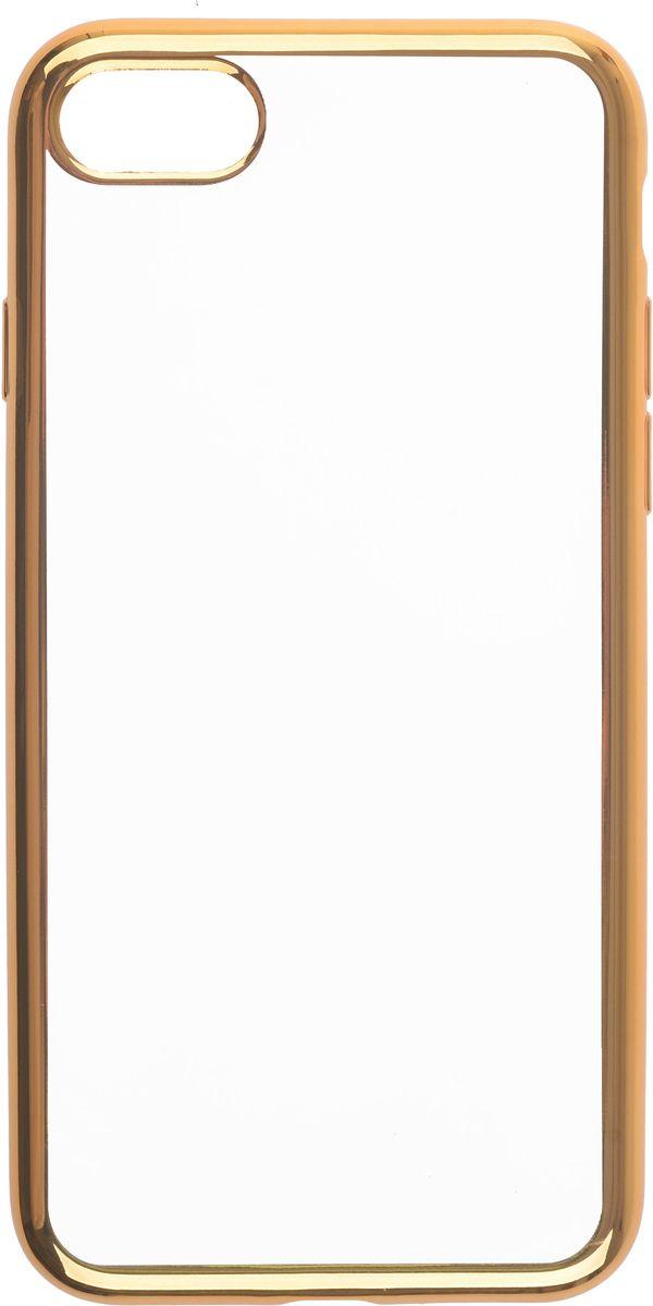 Skinbox 4People Silicone Chrome Border чехол для Apple iPhone 7/8, Gold2000000112848Чехол-накладка Skinbox 4People Silicone Chrome Border для Apple iPhone 7 обеспечивает надежную защиту корпуса смартфона от механических повреждений и надолго сохраняет его привлекательный внешний вид. Накладка выполнена из высококачественного силикона, плотно прилегает и не скользит в руках. Чехол также обеспечивает свободный доступ ко всем разъемам и клавишам устройства.