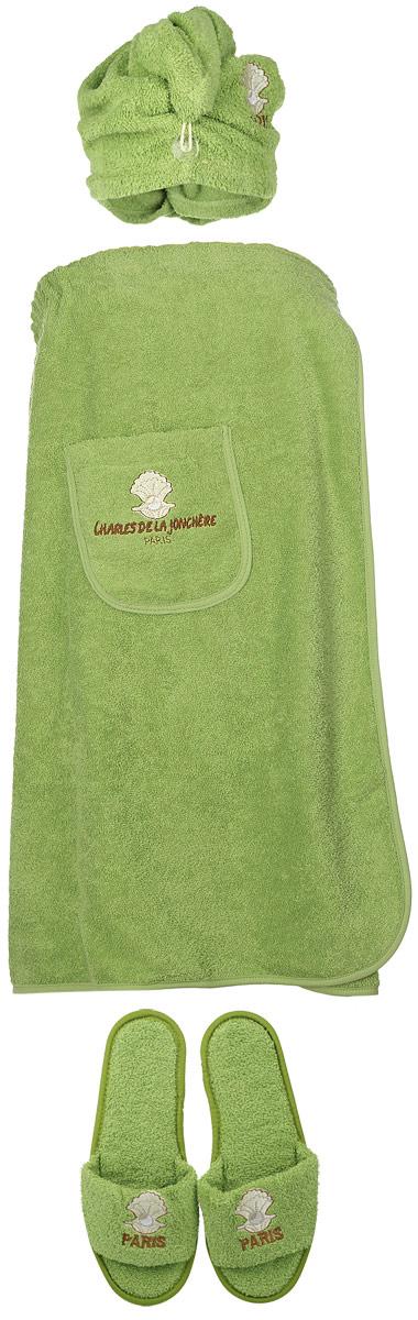 Набор для бани и сауны Karna  Paris , цвет: зеленый, белый, коричневый, 3 предмета -  Баня, сауна