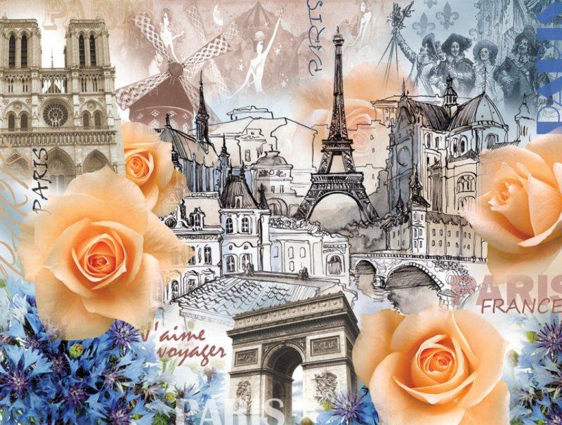 Панно декоративное Твоя Планета Париж, 315 х 238 см4607161054260