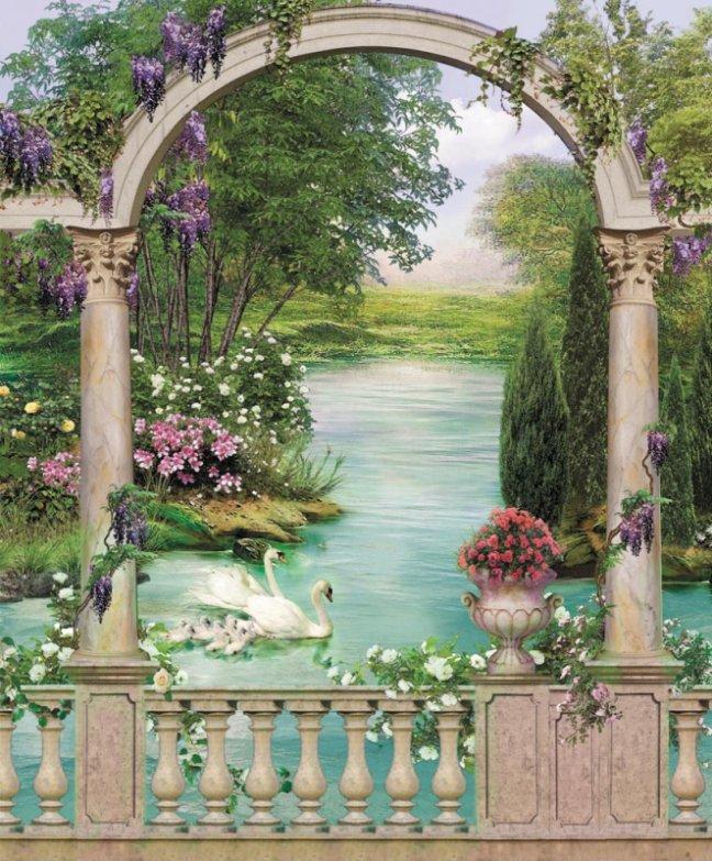 Панно декоративное Твоя Планета Райский сад, 210 х 254 см панно декоративное твоя планета кино 210 х 147 см