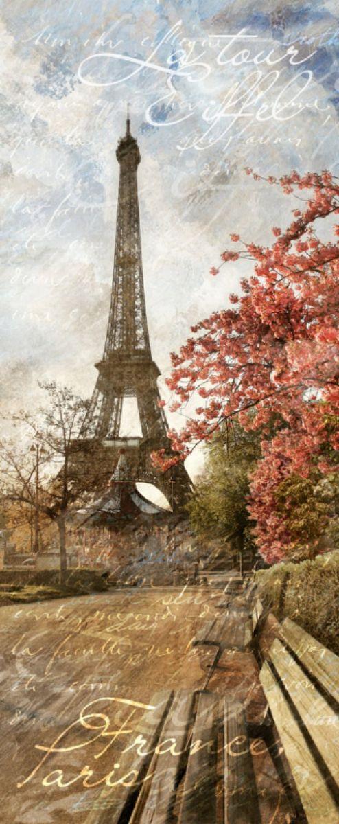 Панно декоративное Твоя Планета Парижский скверик, 105 х 254 см панно декоративное твоя планета кино 210 х 147 см