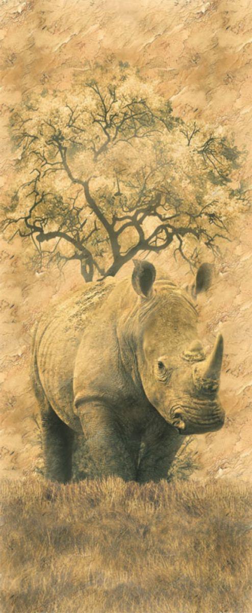 Панно декоративное Твоя Планета Носорог, 105 х 254 см валик курс 2556