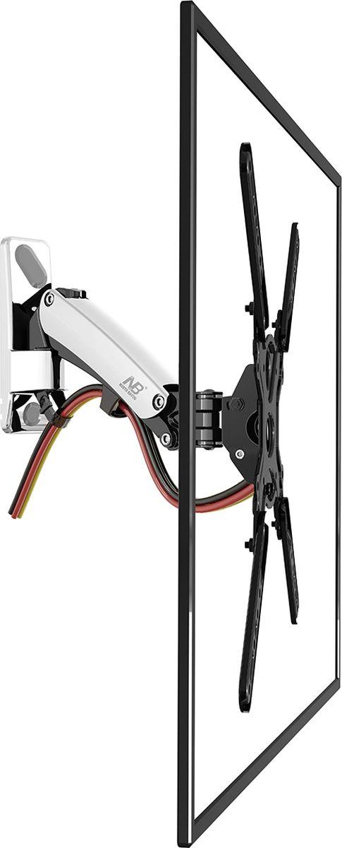 North Bayou NB F400, Chrome кронштейнNB F400 хромированныйНастенный наклонно-поворотный кронштейн с регулировкой по высоте North Bayou NB F400 подходит для телевизоров с диагональю 50-60 и с весом от 14 до 23 кг. Благодаря встроенной газовой пружине вы можете с лёгкостью перемещать телевизор не только влево и вправо, но и вверх, и вниз, при этом не прилагая усилий и не производя дополнительной фиксации. Именно технологии надёжных осевых соединений с газовой пружиной позволят вам отрегулировать положение телевизора для самого комфортного просмотра. Встроенный кабель-канал позволяет расположить провода внутри кронштейна, что придает эстетический вид всей конструкции.