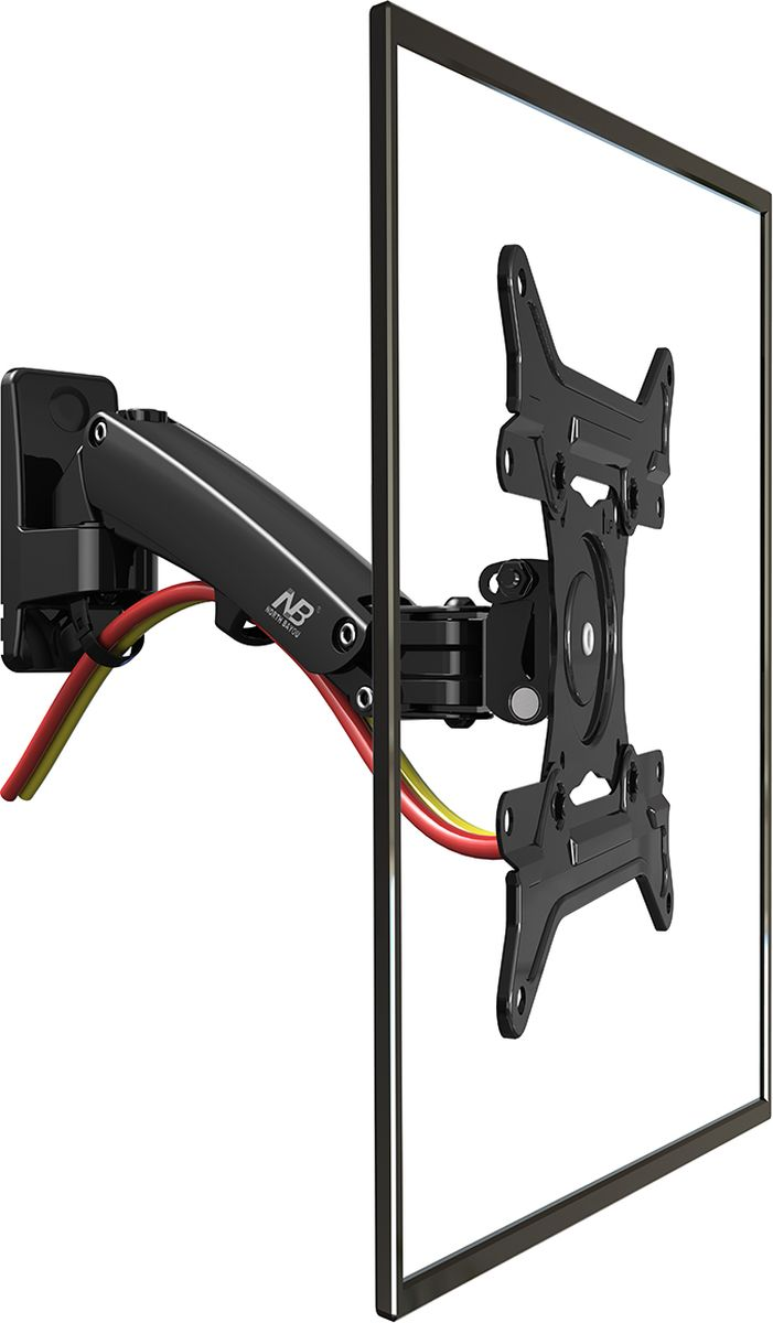 North Bayou NB F200, Black кронштейнNB F200 чёрныйКронштейн North Bayou NB F200 - это металлическая конструкция для крепления LED/LCD телевизоров с возможностью изменения угла наклонаот -50 до +30° и поворота на 180°. Амплитуда вертикального перемещения составляет 210 мм. Надежная модель выполнена по классическойсхеме: задняя рамка монтируется на стену при помощи дюбелей или анкерных болтов. Передняя панель закрепляется на телевизоре, затемустанавливается на настенную рамку. Встроенная в конструкцию газовая пружина позволяет регулировать кронштейн по высоте с фиксацией внужном положении, без применения дополнительных инструментов.