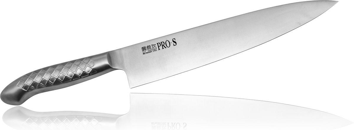 Нож Шеф Kanetsugu Pro-S, 240 мм5006Нож Kanetsugu Pro-S - профессиональный кухонный нож, выполненный из высококачественной нержавеющей стали, обладающей высокой твердостью и устойчивостью к коррозии. Эргономичный дизайн обеспечивает комфортное использование ножа в течение длительного времени.Правила эксплуатации: - Хранить нож следует в сухом месте. - После использования, промойте нож теплой водой и протрите насухо. - Оставление ножа в загрязненном состоянии может привести к образованию коррозии. Запрещается: - Мыть нож в посудомоечной машине. - Хранить ножи в одной емкости со столовыми приборами. - Резать на твердых поверхностях: каменных столешницах, керамических тарелках, акриловых досках. - Запрещается нецелевое использование ножа: вскрывать консервные банки, разрезать кости, скоблить твердые поверхности, резать замороженные продукты. Правка производится легкими движениями на водном камне или мусате. Заточка ножа - сложный технологический процесс, должен производиться профессионалом на специальном оборудовании. Услуга по заточке ножа предоставляется специалистами компании «Тоджиро». Уважаемые клиенты! В случае несоблюдения правил эксплуатации, нож не подлежит гарантийному обслуживанию.