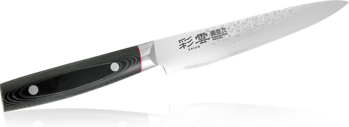 Нож для тонкой нарезки Kanetsugu Saiun Damascus, 210 мм9009Kanetsugu Saiun Damascus - это профессиональный поварской нож. Главные особенности – криообработка клинка и линзовидная заточка режущей кромки. Лезвие выполнено из 33 слоев стали. Подобная технология производства позволяет получать нож с безупречной остротой режущей кромки, сохраняющейся в течение длительного периода времени. Рукоять выполнена из микарты. Имеется металлический больстер, защищающий от попадания пищи и влаги под рукоять.Правила эксплуатации: - Хранить нож следует в сухом месте. - После использования, промойте нож теплой водой и протрите насухо. - Оставление ножа в загрязненном состоянии может привести к образованию коррозии. Запрещается: - Мыть нож в посудомоечной машине. - Хранить ножи в одной емкости со столовыми приборами. - Резать на твердых поверхностях: каменных столешницах, керамических тарелках, акриловых досках. - Запрещается нецелевое использование ножа: вскрывать консервные банки, разрезать кости, скоблить твердые поверхности, резать замороженные продукты. Правка производится легкими движениями на водном камне или мусате. Заточка ножа - сложный технологический процесс, должен производиться профессионалом на специальном оборудовании. Услуга по заточке ножа предоставляется специалистами компании «Тоджиро». Уважаемые клиенты! В случае несоблюдения правил эксплуатации, нож не подлежит гарантийному обслуживанию.