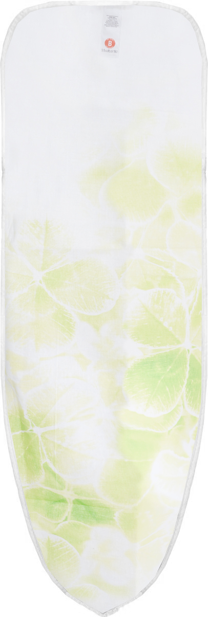 Чехол для гладильной доски Brabantia Perfect Fit. Листья клевера, 2 мм, 124 х 38 см. 191404191404_белый,салатовый клеверИдеальная поверхность для глажения и отпаривания. Плавное скольжение утюга – верхний чехол из 100% хлопка. Удобное глажение – подкладка из 2 мм поролона для упругости. Удобная фиксация на доске и отличное натяжение чехла – затягивающий шнур и стяжки. Цветовая маркировка позволяет быстро и точно подобрать нужный чехол.