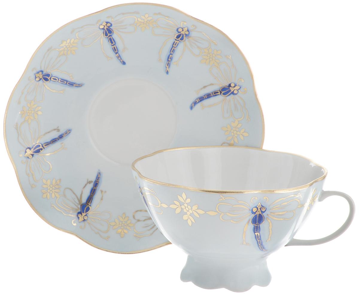 Чайная пара Фарфор Вербилок Восточная принцесса. Стрекозы, 2 предмета чайная пара фарфор вербилок капля полдня 2 предмета 1259593