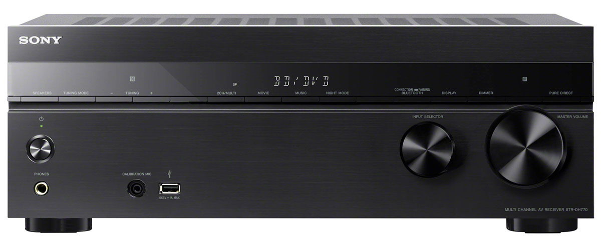 Sony STR-DH770, Black AV-ресивер sony hdr pj330e видеокамера