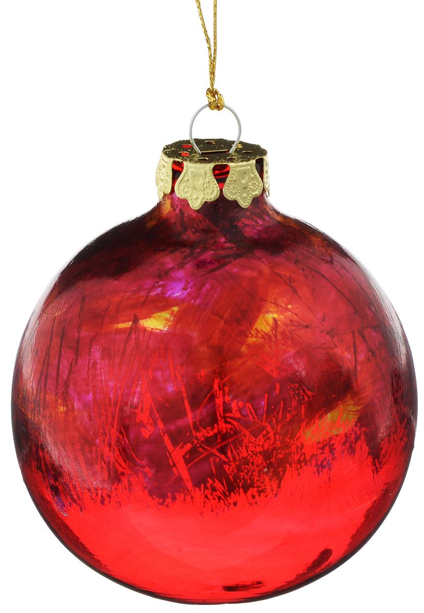 Украшение новогоднее подвесное Winter Wings Шар, диаметр 8 смN079102Новогоднее подвесное украшение Winter Wings Шар выполнено из стекла в виде шара. С помощью специальной петельки украшение можно повесить в любом понравившемся вам месте. Но, конечно, удачнее всего оно будет смотреться на праздничной елке.Елочная игрушка - символ Нового года. Она несет в себе волшебство и красоту праздника. Создайте в своем доме атмосферу веселья и радости, украшая новогоднюю елку нарядными игрушками, которые будут из года в год накапливать теплоту воспоминаний.