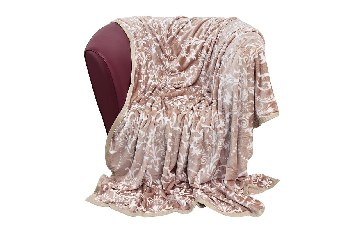 Плед EL Casa Узор, цвет: бежевый, белый, 150 х 200 см960006Уютный, легкий и прочный плед в оригинальном дизайне послужит украшением декора вашей комнаты и согреет вас и ваших близких.Устойчив к истиранию и скатыванию, не мнется, не деформируется, сохранит первоначальный вид даже при активном использовании и многочисленных стирках. Такой плед идеален в качестве подарка на любой праздник. Изделие в подарочной сумке с ручками.Плотность - 320 г/м2.
