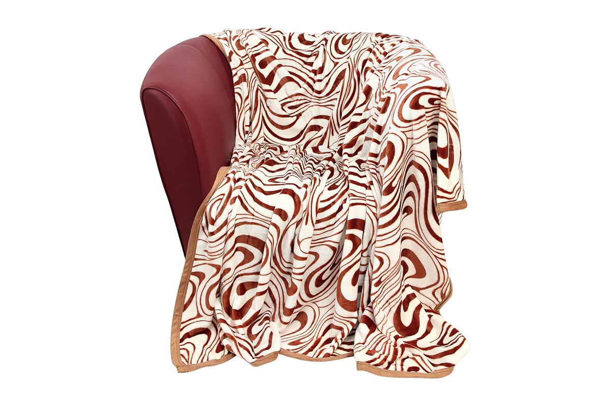 Плед EL Casa Зебра, цвет: белый, оранжевый, 200 х 230 см960031Уютный, легкий и прочный плед в оригинальном дизайне послужит украшением декора вашей комнаты и согреет вас и ваших близких.Устойчив к истиранию и скатыванию, не мнется, не деформируется, сохранит первоначальный вид даже при активном использовании и многочисленных стирках. Такой плед идеален в качестве подарка на любой праздник. Изделие в подарочной сумке с ручками.Плотность - 320 г/м2.