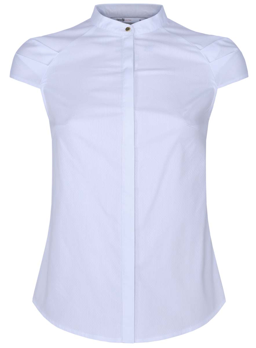 Блузка женская oodji Ultra, цвет: белый. 11403196-1/18193/1000N. Размер 38 (44-170) блуза oodji oodji oo001ewjiw32