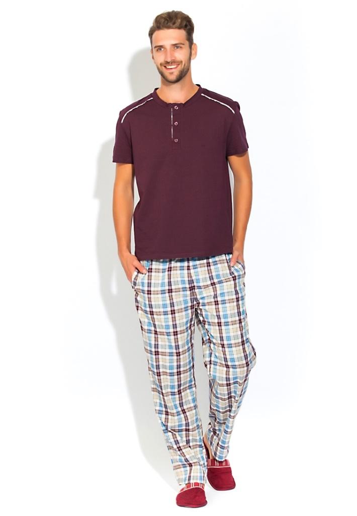 Домашний костюм мужской Peche Monnaie Boss, цвет: шоколадный. 25. Размер XXL (52/54) платье домашнее peche monnaie цвет салатовый 219 размер xxl 52