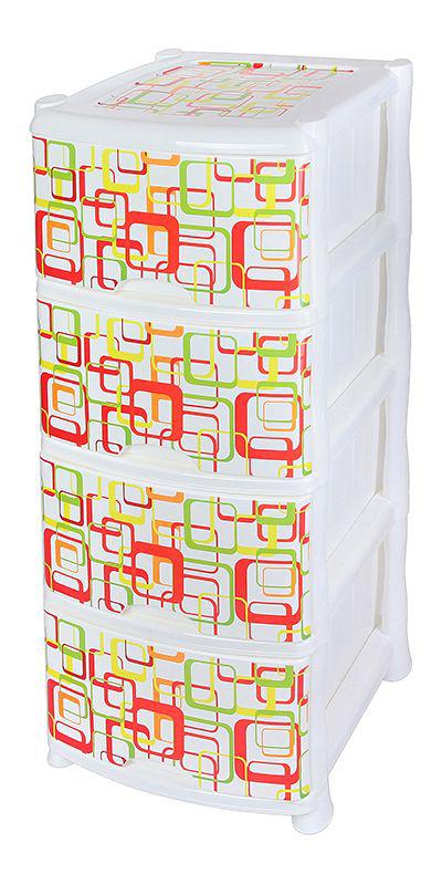 Комод Violet Квадро, 4-х секционный, 40 х 47 х 94 см0352/67Универсальный комод с 4 выдвижными ящиками выполнен из экологически чистого пластика. Идеально подходит для хранения игрушек и других хозяйственных предметов. Достаточно вместительный, но в то же время компактный. Можно сократить количество ярусов по желанию.Поставляется в разобранном виде. Максимальная нагрузка на 1 ящик комода равна 12 кг.