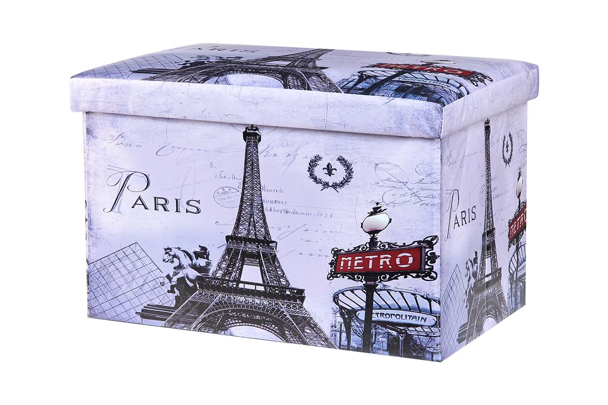 Пуф El Casa Париж, складной, с ящиком для хранения, 48 х 31 х 31 см171435Складной пуф El Casa Париж понравится всем ценителям оригинальных вещей. Изделие выполнено из МДФ и обтянуто экокожей. Благодаря удобной конструкции складывается и раскладывается одним движением. В сложенном виде пуф занимает минимум места, его легко хранить и перевозить. Внутри пуфа имеется место для хранения бытовых предметов, аксессуаров для обуви и многого другого. Стильный оригинальный пуф прекрасно впишется в интерьер прихожей, гостиной или спальни.