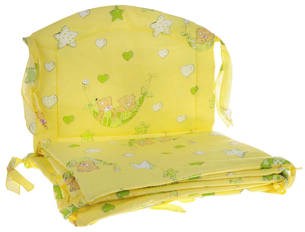 Фея Борт комбинированный Спящие мишки цвет желтый -  Бортики, бамперы