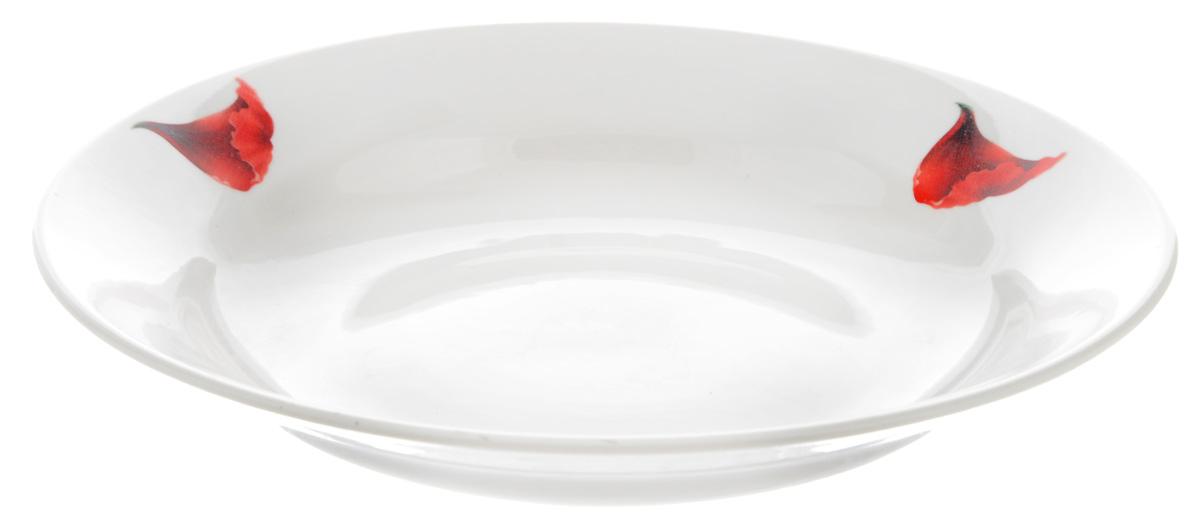 Тарелка глубокая Фарфор Вербилок Маков цвет, диаметр 23 см22600760Глубокая тарелка Фарфор Вербилок Маков цвет выполнена из высококачественного фарфора и украшена ярким рисунком. Она прекрасно впишется в интерьер вашей кухни и станет достойным дополнением к кухонному инвентарю. Тарелка Фарфор Вербилок Маков цвет подчеркнет прекрасный вкус хозяйки и станет отличным подарком. Диаметр тарелки: 23 см.Высота тарелки: 4 см.